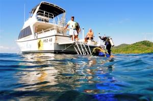 diver on boat